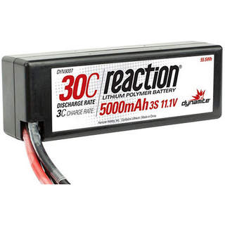 LiPol Reaction Car 11.1V 5000mAh 30C HC Deans