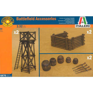 Italeri diorama - ARTILLERY POSITION ACCESSORIES (1:32)