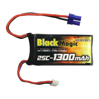 Black Magic LiPol 7.4V 1300mAh 25C EC3