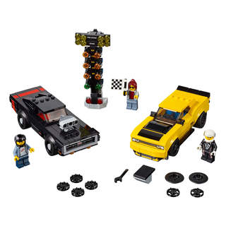 LEGO Speed Champions - 2018 Dodge Challenger SRT Demon a 1970 Dodge Charger R/T