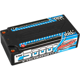 Corally LiPo X-Celerated 7.4V 5000mAh 100C Short
