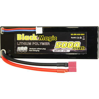 Black Magic LiPol Car 7.4V 5000mAh 50C Deans