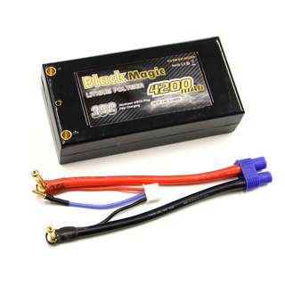 Black Magic LiPol Car 7.4V 4200mAh 35C Short EC3